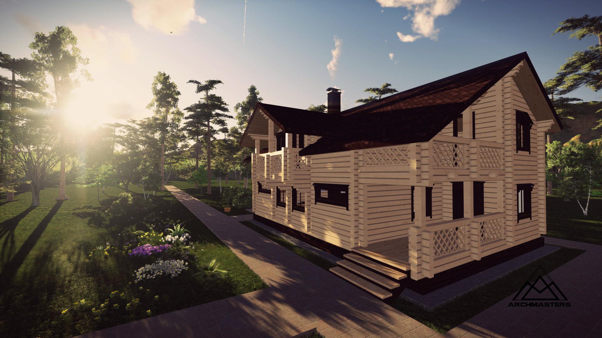 Видео-презентация дома: Дом из бруса