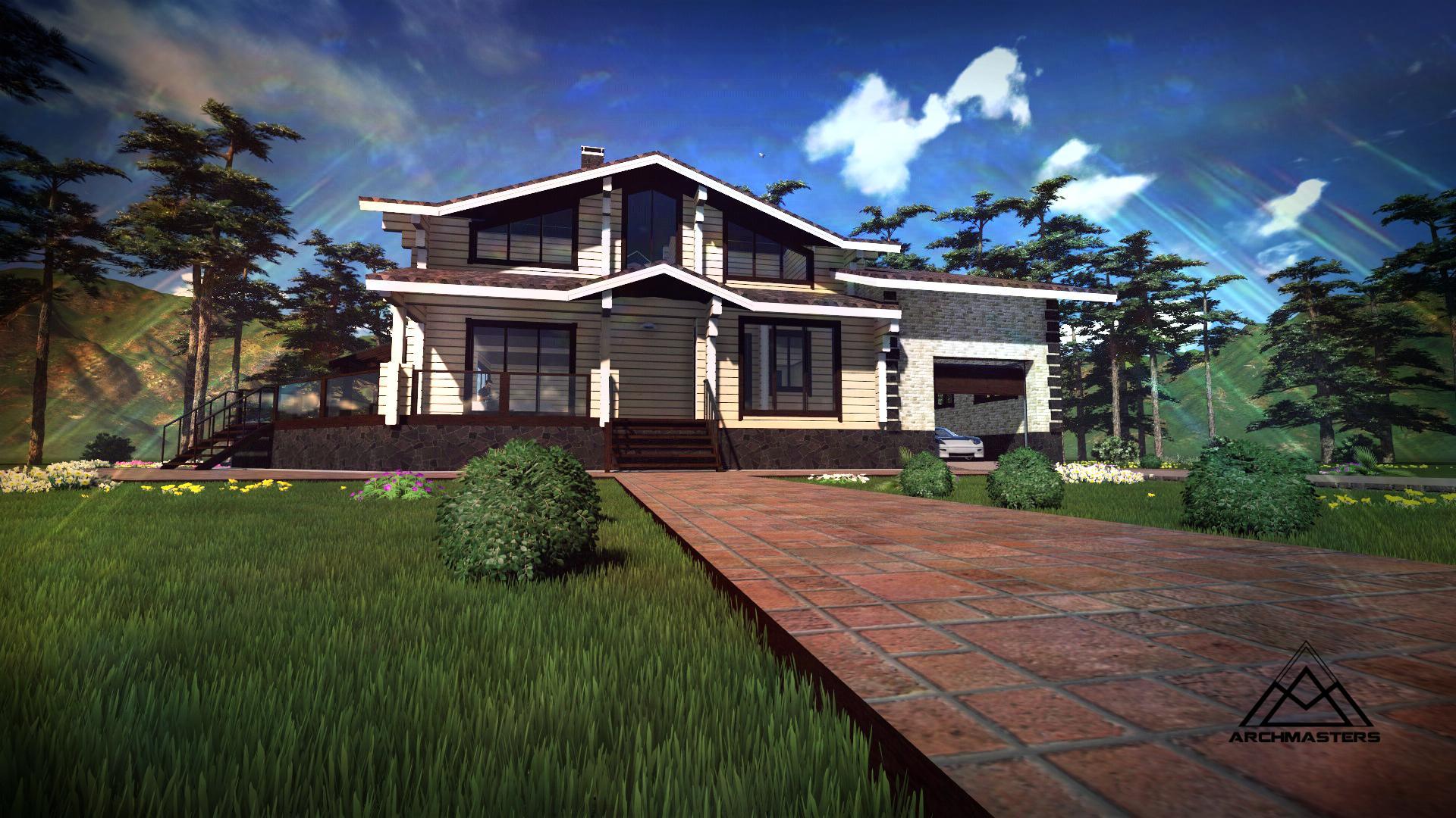 Видео-презентация дома: Проект дома в Новосибирске