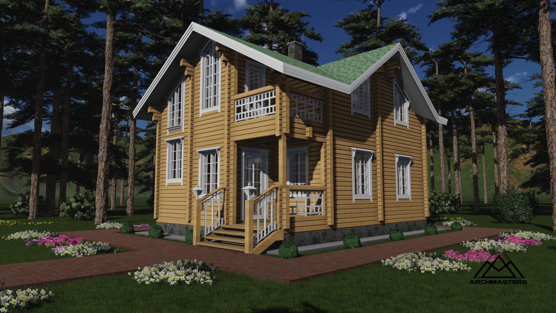 Видео-презентация дома: Проект дачного дома из бруса