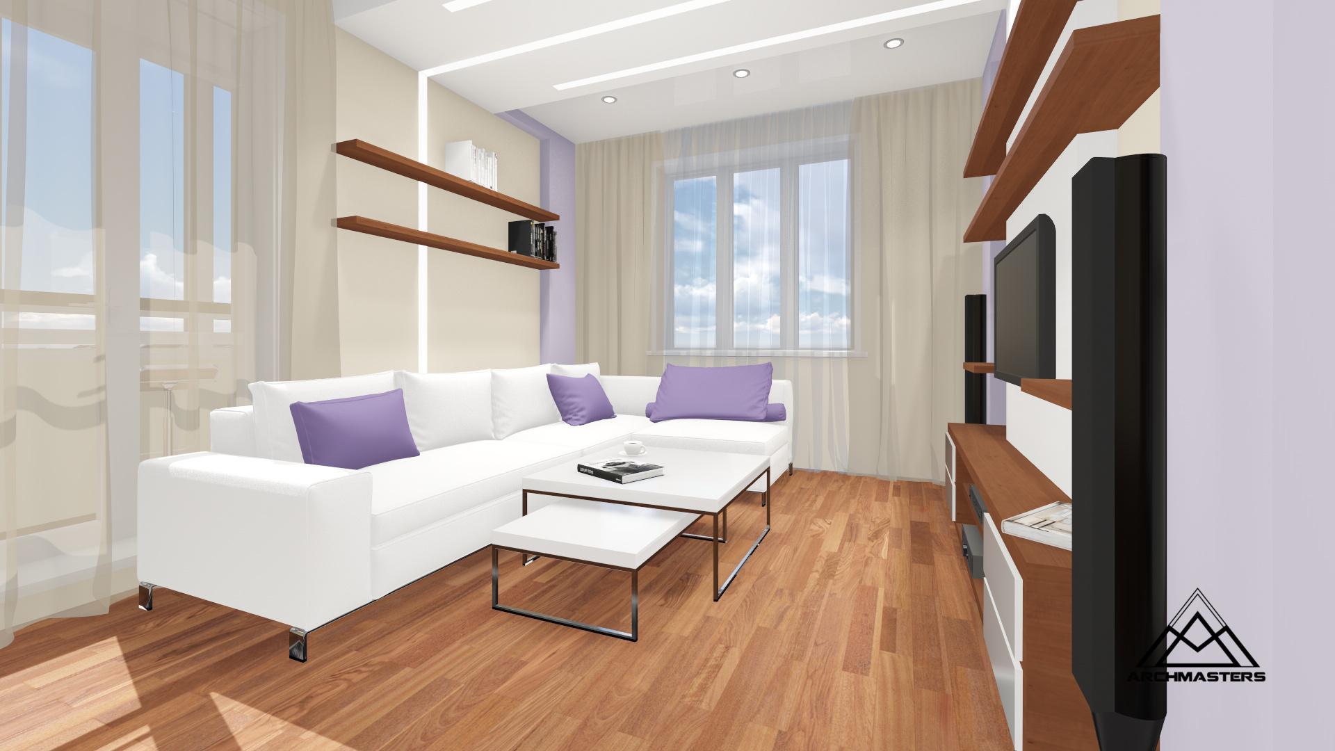 Дизайн интерьера двухкомнатной квартиры в Новосибирске