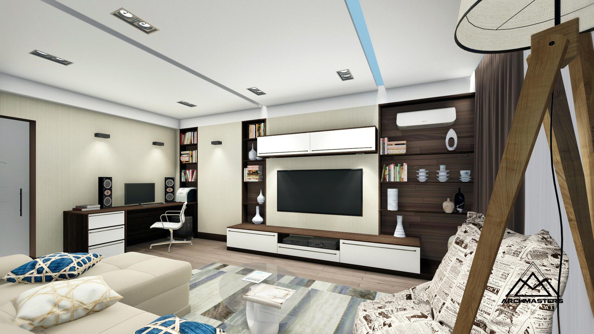 Дизайн проект интерьера квартиры в ЖК Европейский