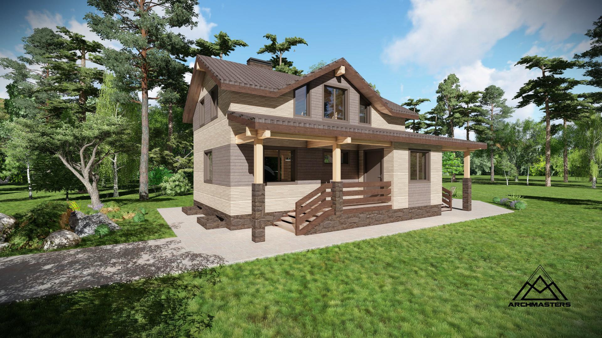Проект бани с японскими фасадами NICHIHA