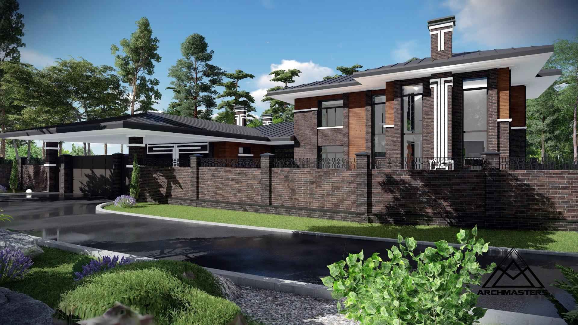 Проект дома в стиле Прерий г. Тюмень
