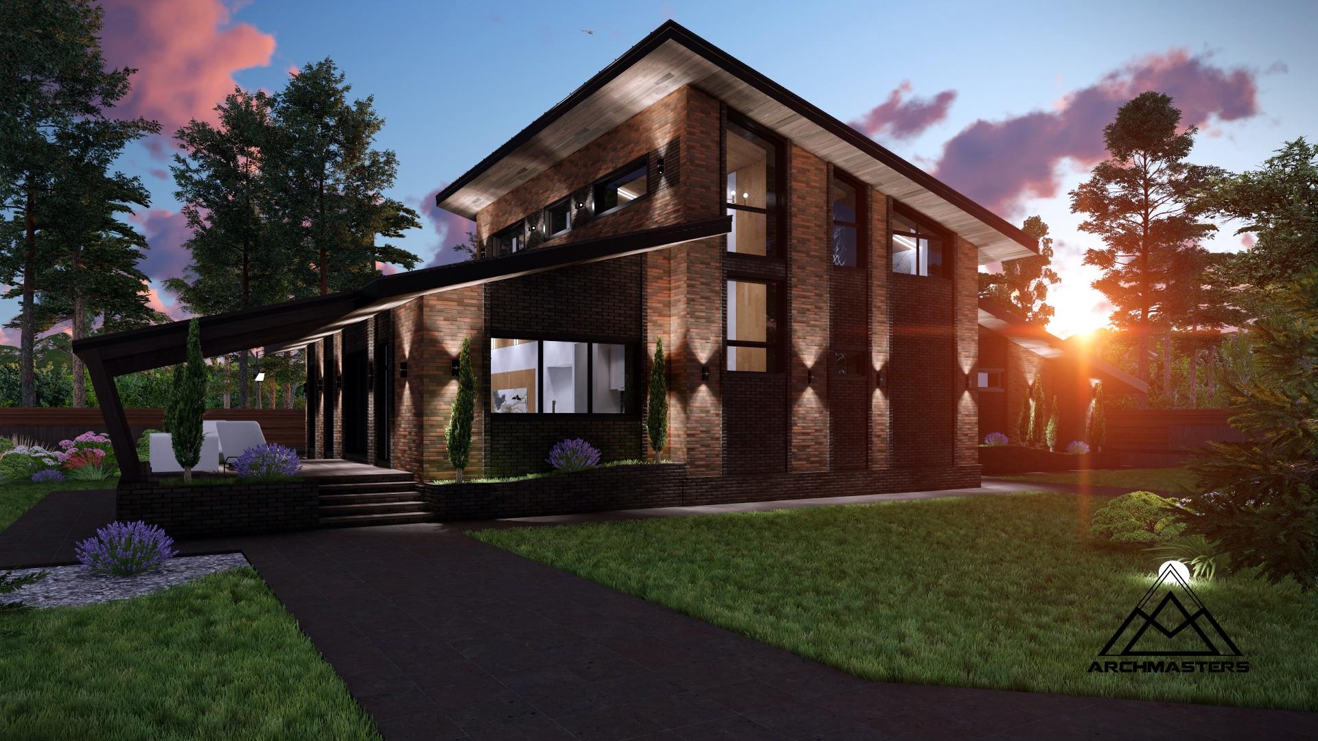 Проект одноэтажного дома с мансардным этажом из керамического блока
